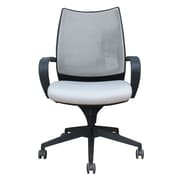 Woodstock Marketing Sweetwater Mid-Back Mesh Task Chair with Arms; Black & Gray
