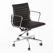 Stilnovo Mid-Back Leather Task Chair; Black