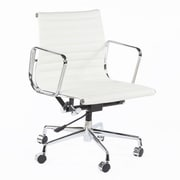 Stilnovo Mid-Back Leather Conference Chair; White