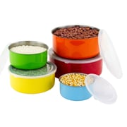 Imperial Home 10 Piece Colorful Stainless Steel Mixing Bowl Set
