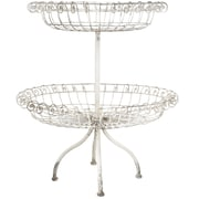 A&B Home Group, Inc French Chic Garden 2 Tiered Basket