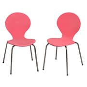 Gift Mark Kid's Desk Chair (Set of 2); Pink