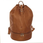 Piel Navy Drawstring Backpack; Chocolate