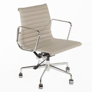 Stilnovo Mid-Back Leather Task Chair; Grey