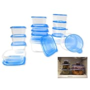 Imperial Home 30-Piece Plastic Food Storage Container Set; Blue