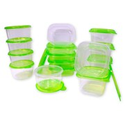 Imperial Home 30-Piece Plastic Food Storage Container Set; Green