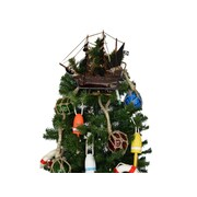 Handcrafted Nautical Decor John Gow's Wooden Revenge Pirate Ship Christmas Tree Topper Decoration