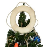 Handcrafted Nautical Decor Lifering Christmas Tree Topper Decoration