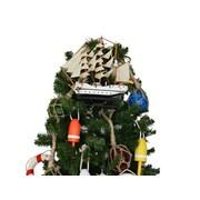 Handcrafted Nautical Decor Gorch Fock Model Ship Christmas Tree Topper Decoration