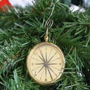 Handcrafted Nautical Decor Brass Emerson Poem Compass Christmas Tree Ornament