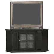 Woodhaven Hill Riley Holliday Corner Plasma TV Stand; Black Rub