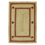 Homespice Decor Texas Star Jute Braided Red Area Rug; 5' x 8'