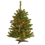 National Tree Co. Eastern 3' Spruce Artificial Christmas Tree w/ Multi-Colored Lights