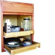 JA Marketing Bamboo Expandable Kitchen Cabinet Pull Out Shelf