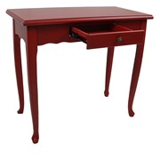 International Caravan Ashbury Console Table; Antique Red