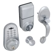 honeywell digital door knob handleset lock with remote satin chrome 8632307. Black Bedroom Furniture Sets. Home Design Ideas