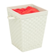 Honey Can Do Woven Strap Hamper with Liner Cream (HMP-03024)