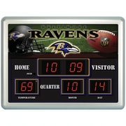 Team Sports America NFL Scoreboard Desk Clock; New England Patriots