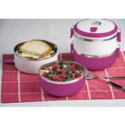 Modernhome Stainless Steel Lunch Box; Magenta