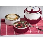 Modernhome Stainless Steel Lunch Box; Red Dahlia