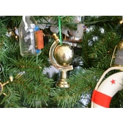 Handcrafted Nautical Decor Brass World Globe Christmas Tree Ornament