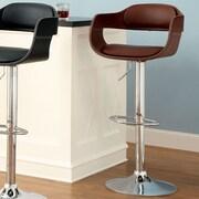 Hokku Designs Ryanne Adjustable Height Swivel Bar Stool with Cushion; Brown