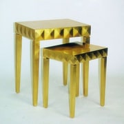 Wayborn Modern Golden Reflective Nesting Tables