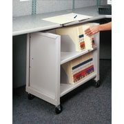 Datum Storage Mini Sloped-Shelf File Cart; Light Gray