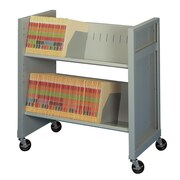 Datum Storage Basic Sloped-Shelf File Cart; Bone White