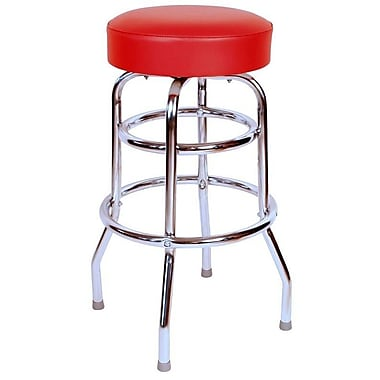 Richardson Seating Retro Home 30'' Swivel Bar Stool with Cushion; Red