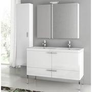 ACF New Space 47'' Single Bathroom Vanity Set with Mirror; Larch Canapa