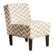 Abbyson Living Fiona Chevron Slipper Chair; Gold
