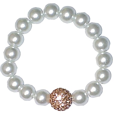 Best Desu Swarovski Elements Crystal Pearl Bracelet, Champagne
