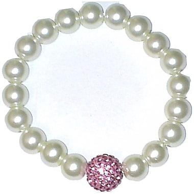Best Desu Swarovski Elements Crystal Pearl Bracelet, Pink