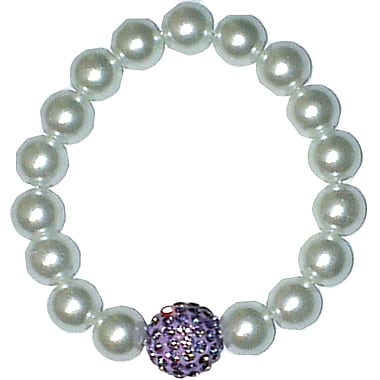 Best Desu Swarovski Elements Crystal Pearl Bracelet, Purple