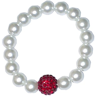 Best Desu Swarovski Elements Crystal Pearl Bracelet, Red