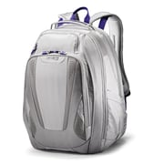 Samsonite Viz Air 2 Silver/Purple/Yellow Polyester Laptop Backpack (66256-2668)