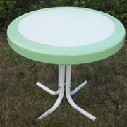 4D Concepts Metal Retro Round Side Table; Lime