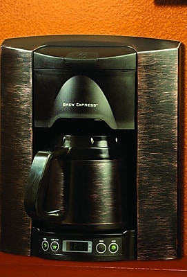 Brew Express 4 Cup Built-In-The-Wall Self-Filling Coffee and Hot Beverage System; Bronze WYF078275627620
