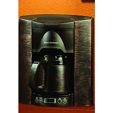 Brew Express 4 Cup Built-In-The-Wall Self-Filling Coffee and Hot Beverage System; Bronze