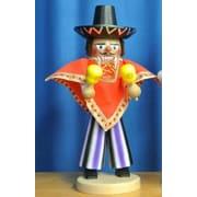 PinnaclePeak Steinbach Signed Mexican Man with Maracas German Wood Christmas Nutcracker