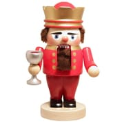 PinnaclePeak Steinbach Signed Troll King Arthur with Chalice German Wood Christmas Nutcracker