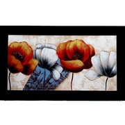 Entrada 3D Modern Flower Painting Print on Canvas
