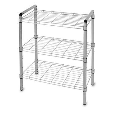 Delta Design Art of Storage Quick Rack 30'' H 3 Shelf Shelving Unit; Silver