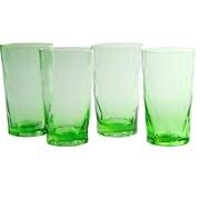 Artland Ripple Highball Glass (Set of 4); Green