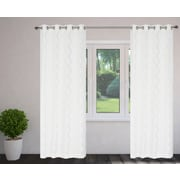 LJ Home Fantasy Burnout Grommet Curtain Panels (Set of 2); White