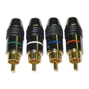 Homevision Technology Digiwave RCA Component Plug in Metal (Set of 4)