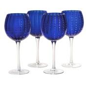 Artland Cambria Goblet (Set of 4); Cobalt Blue