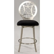 Chintaly Microfiber Simple 25.98'' Swivel Bar Stool with Cushion