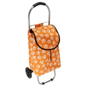 Household Essentials Animal Print Rolling Shopping Cart